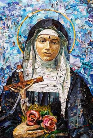 Repro (saints): Santa Rita da Cassia by Vik Muniz contemporary artwork