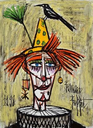 Clown à l'oiseau by Bernard Buffet contemporary artwork