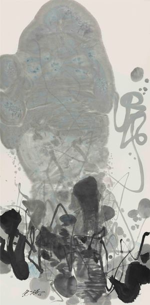 Vertical Composition 3 by Chu Teh-Chun contemporary artwork painting, works on paper, drawing