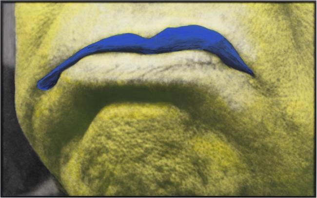Man With Blue Shape by John Baldessari contemporary artwork