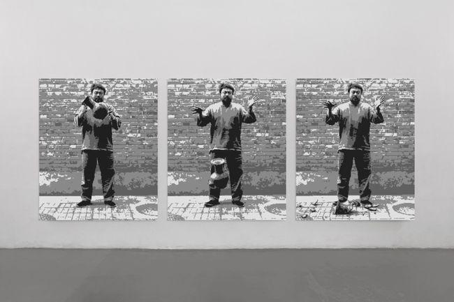 Dropping a Han Dynasty Urn in Lego by Ai Weiwei contemporary artwork
