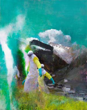Der Besucher by Justin Mortimer contemporary artwork
