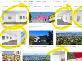 "A Net Artist Takes Over the Google Image Search of ""Frieze Los Angeles"""