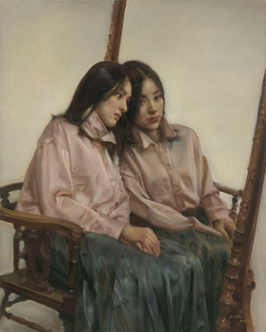 Flowers in the Mirror No.10 by Pang Maokun contemporary artwork