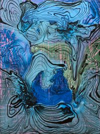 Crouching in the Korengal Valley simultaneous dual latrine by Dale Frank contemporary artwork painting