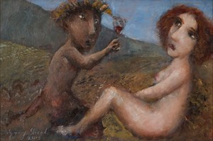 Dionysus and Naiad by Garry Shead contemporary artwork