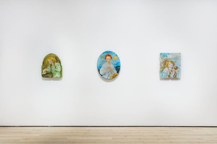 Exhibition view: Tursic & Mille,La Rencontre / The Encounter, Almine Rech, Shanghai (15 January–6 March 2021). © Tursic & Mille. Courtesy the Artists and Almine Rech.