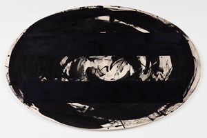 Gains and Losses - Omphalos (Black II) by Gretchen Albrecht contemporary artwork