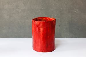 Red tube by Claudia Terstappen contemporary artwork