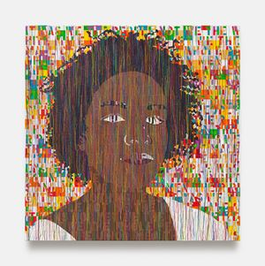 Portrait of Kamilah by Ghada Amer contemporary artwork