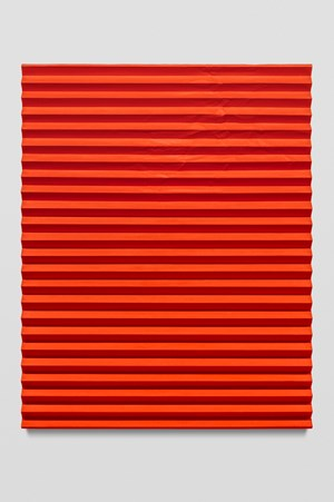 Orgone Therapy II (Accordion Fold Naphthol Red, Cadmium Orange) by Mark Hagen contemporary artwork