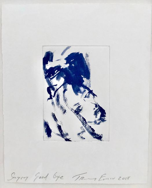 Saying Goodbye by Tracey Emin contemporary artwork