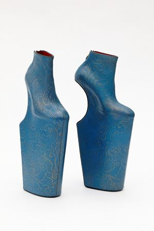 Heel-less Shoes Series (blue thunder) by Noritaka Tatehana contemporary artwork
