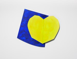 Light heart (yellow) by Wonwoo Lee contemporary artwork