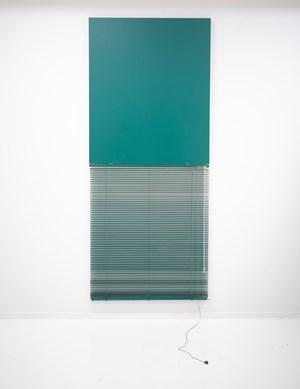 Blind Mono (Teal) by Ed Bats contemporary artwork