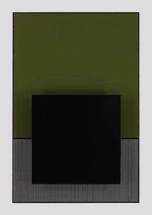 Noir sur le vert by Jesús Rafael Soto contemporary artwork