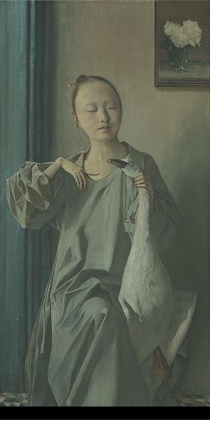 Whispered Conversation 私語 by Wei Dong contemporary artwork