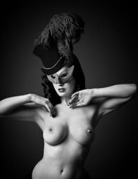 Dita Von Teese with Diamond Dust by Andy Gotts contemporary artwork photography, print, mixed media