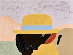 Sleeping man in Alto Molocue by Cassi Namoda contemporary artwork