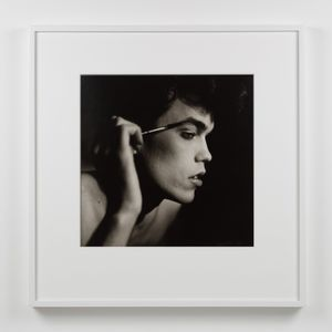 David Brintzenhofe Applying Makeup by Peter Hujar contemporary artwork