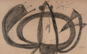 Personnage, étoile by Joan Miró contemporary artwork works on paper, drawing