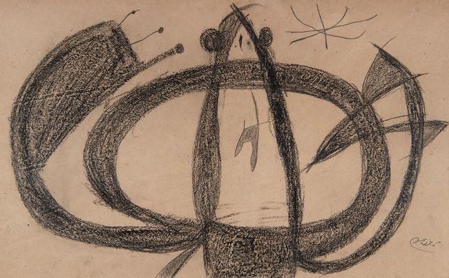 Personnage, étoile by Joan Miró contemporary artwork