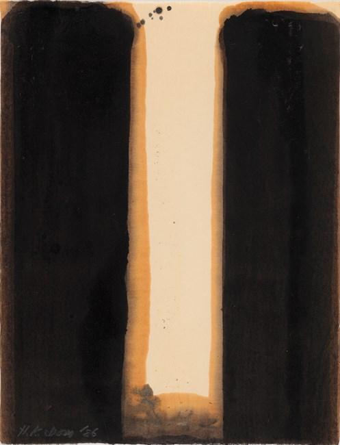 Burnt Umber & Ultramarine by Yun Hyong-keun contemporary artwork