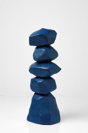 Blue Column by David Nash contemporary artwork
