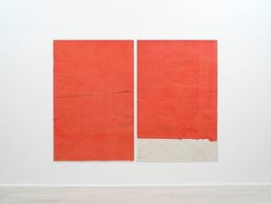 Endnote, tooth (red) by Ian Kiaer contemporary artwork