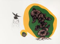 Voyages of discovery (The nesting tree) by Patricia Piccinini contemporary artwork works on paper