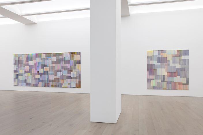 Exhibition view: Bernard Frize, Journey in Autumn, Perrotin, New York (11 September–26 October 2019). © Bernard Frize / ADAGP, Paris, 2019 & ARS New York. Courtesy the artist and Perrotin.Photo: Guillaume Ziccarelli.