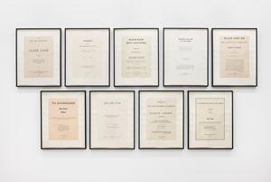 Narratives by Glenn Ligon contemporary artwork
