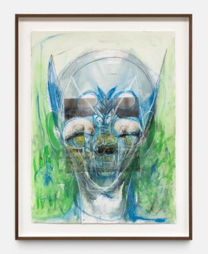 Untitled by Huma Bhabha contemporary artwork painting, works on paper, drawing