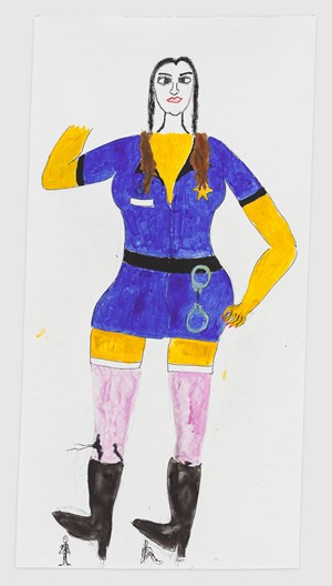 'I'll respect her authority, I always had a thing for women in uniform' by Reba Maybury contemporary artwork