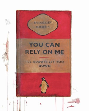 You Can Rely On Me I'll Always Let You Down by Harland Miller contemporary artwork