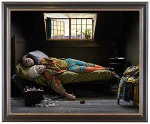 Fake Death Picture (The Death of Chatterton - Henry Wallis) by Yinka Shonibare CBE (RA) contemporary artwork