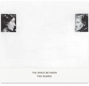 The Space Between Two Women. by John Baldessari contemporary artwork