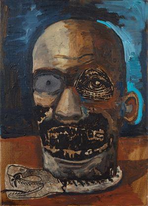 The Speech by Damien Deroubaix contemporary artwork painting