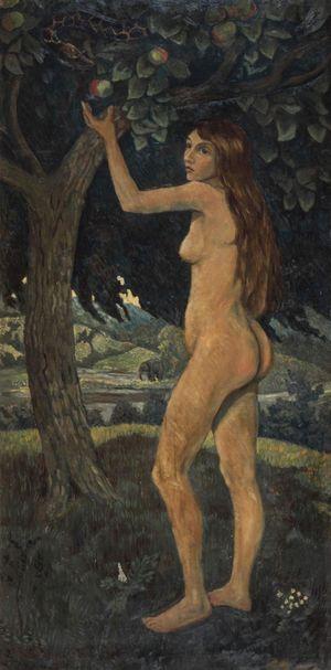 Éve et le serpent by Paul Serusier contemporary artwork
