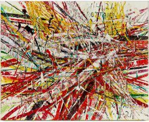 Untitled (Capri 53.88) by Mark Grotjahn contemporary artwork