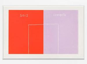 Sois Tranquille by Andrea Büttner contemporary artwork
