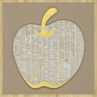Dictionary–Apple by Jam Wu contemporary artwork painting, mixed media