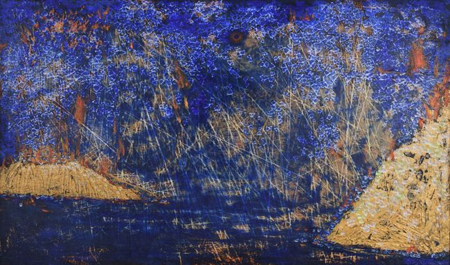 Peaks Stand Sheer Against Each Other by Tsang Chui Mei contemporary artwork