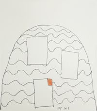 Heaven's robes, #43 by Jürgen Partenheimer contemporary artwork works on paper