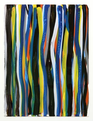 Brushstrokes by Sol LeWitt contemporary artwork painting, works on paper