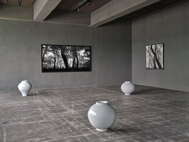 Exhibition view:Bae Bien-Uand Kwon Dae-Sup, Boundless Union, Axel Vervoordt Gallery, Hong Kong (3 July–25 September 2021). Courtesy Axel Vervoordt Gallery.