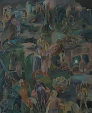 Irul (the Dark) by Sosa Joseph contemporary artwork painting