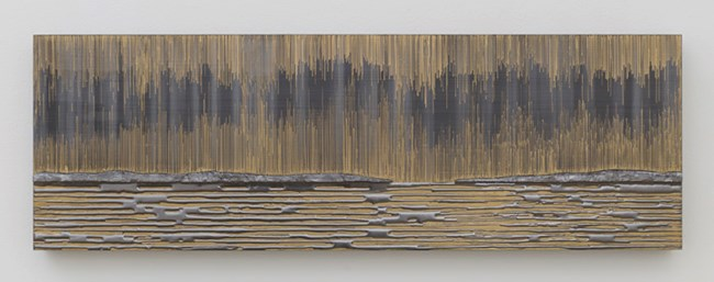 Nocturnal (Gold Horizon) by Teresita Fernández contemporary artwork