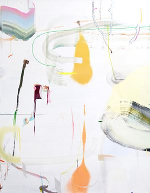 Designation of lines by Qingzhen Han contemporary artwork