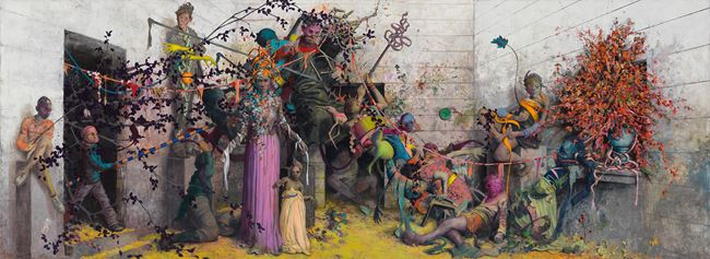 ein Klang lang by Jonas Burgert contemporary artwork